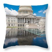 U S Capitol East Front Throw Pillow