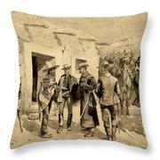U. S. Cavalry Hunting Garza Men On The Rio Grande Throw Pillow