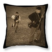 U. S. Civil War Messenger Boy On The Run Throw Pillow