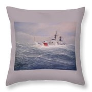 U. S. Coast Guard Cutter Gallitin Throw Pillow by William H RaVell III