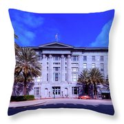 U S Custom House - New Orleans Throw Pillow