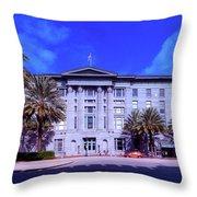 U S Custom House - New Orleans Throw Pillow