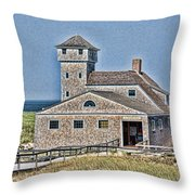 U S Lifesaving Station Throw Pillow