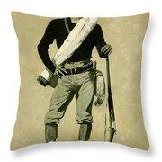 U. S. Soldier, Spanish-american War Throw Pillow