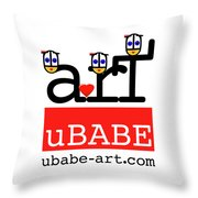 uBABE Art Wave Throw Pillow