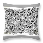 Uberman Collaberation Throw Pillow by Chelsea Geldean
