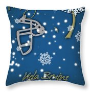 Ucla Bruins Christmas Card Throw Pillow