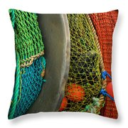 Ucluelet Fishing Nets Throw Pillow
