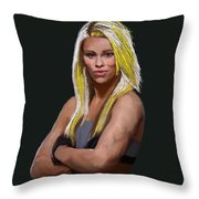 Ufc Fighter Paige Van Zant Throw Pillow