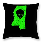 Ufo Abduction Extraterrestrial Archaeology Mississippi Throw Pillow