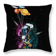 Ufo Astronaut Spaceshuttle Space Force Throw Pillow