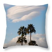 Ufo Cloud Over Palm Springs Throw Pillow
