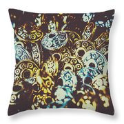 Ufo Flying Saucers Throw Pillow
