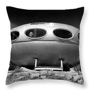 Futuro House Ufo Throw Pillow
