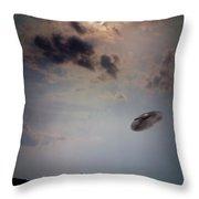 Ufo Over Lake Superior Throw Pillow