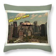 Ufo Postcards Home By Raphael Terra Throw Pillow