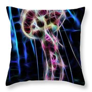 Ufo Under The Sea Throw Pillow