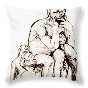Ugolino And His Sons Throw Pillow