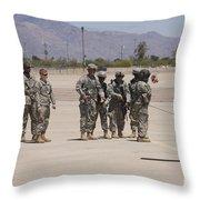 Uh-60 Black Hawk Aircrew Conduct Throw Pillow