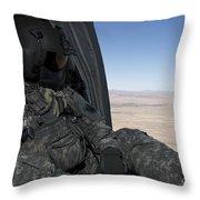 Uh-60 Black Hawk Crew Chief Takes Throw Pillow