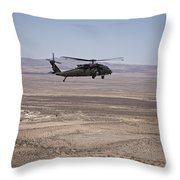 Uh-60 Black Hawk En Route To New Mexico Throw Pillow