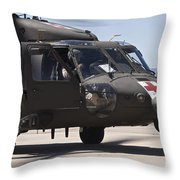 Uh-60 Black Hawk Refuels Throw Pillow