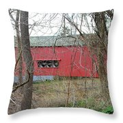 Uhlerstown Covered Bridge Throw Pillow