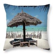 Uhuru Beach Lodge Zanzibar - Notkak Throw Pillow