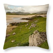 Uig Sands - Isle Of Lewis Throw Pillow