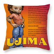 Ujima The Builder Throw Pillow