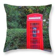 U.k. Phone Booth Throw Pillow
