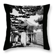 Ukimi-do Temple Throw Pillow