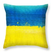 Ukraine Flag Throw Pillow by Setsiri Silapasuwanchai