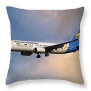 Ukraine International Airlines Boeing 737-8eh Throw Pillow