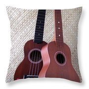 Ukulele Duet Throw Pillow