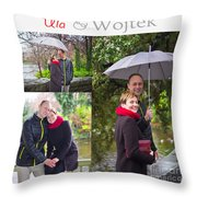 Ula And Wojtek Engagement 1 Throw Pillow