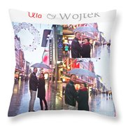 Ula And Wojtek Engagement 2 Throw Pillow