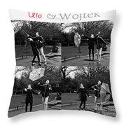 Ula And Wojtek Engagement 3 Throw Pillow