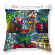 Ula And Wojtek Engagement 4 Throw Pillow