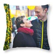 Ula And Wojtek Engagement 9  Throw Pillow