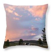 Ulagan Sunset. Mountain Altay Throw Pillow