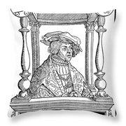 Ulrich Von Hutten, German Poet Throw Pillow