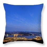 Ulsteinvik By Night Throw Pillow