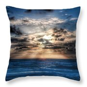 Ultra Blue Sunrise Throw Pillow