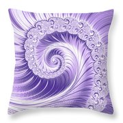 Ultra Violet Luxe Spiral Throw Pillow