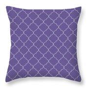 Ultra Violet Quatrefoil Throw Pillow
