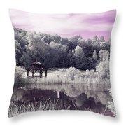 Ultraviolet Gazebo Throw Pillow