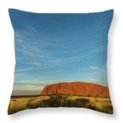 Uluru Sunset 01 Throw Pillow