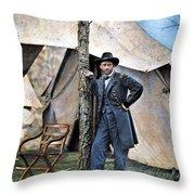 Ulysses S. Grant Throw Pillow