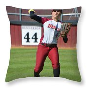 Umass Outfielder 4 Throw Pillow